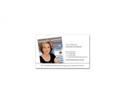 Honestly Woman Business card designed by brisbane graphic designer Megan Taylor