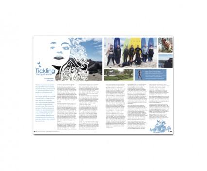 Honestly Woman magazine layout designed by brisbane graphic designer Megan Taylor