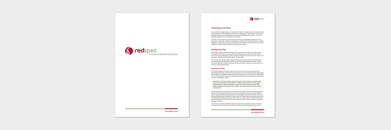 Red spec document template design