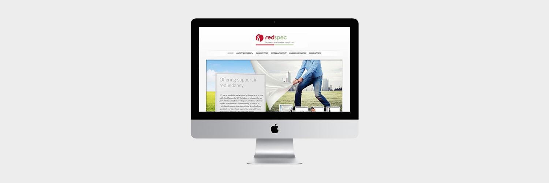 Red spec logo web banner design