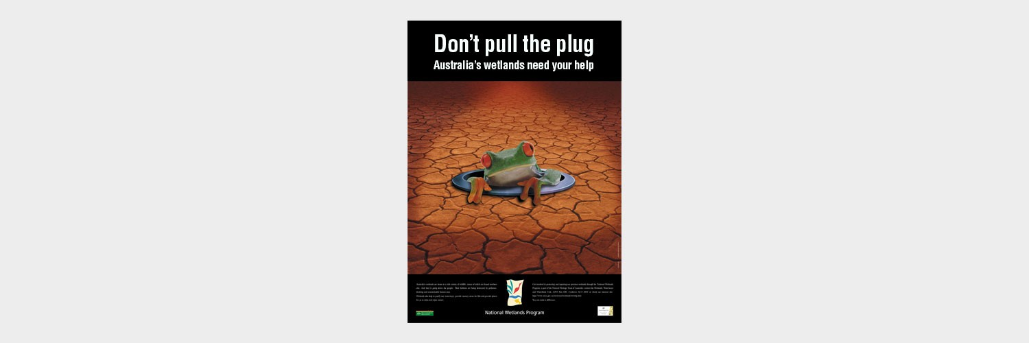 Poster designed for Environment Australia to promote awareness about wetlands