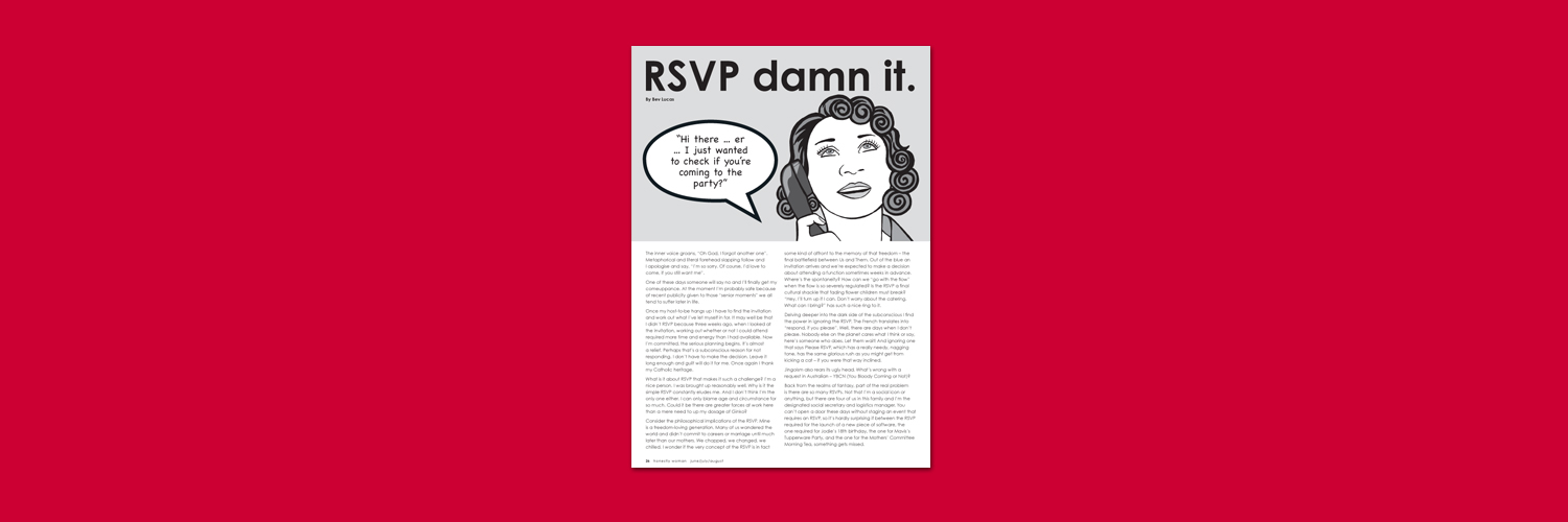 RSVP Damn It Illustration by Brisbane designer Megan Taylor