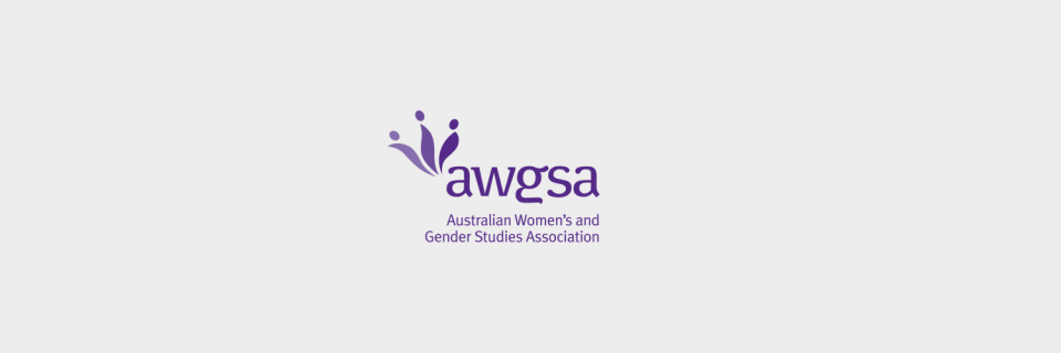 Logo design for the Australian Women's and Gender Studies Association by Brisbane graphic designer Megan Taylor