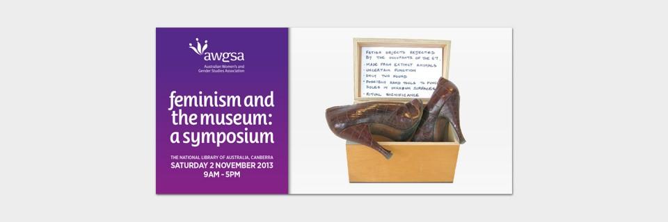 Web banner design for the Australian Women's and Gender Studies Association symposium by Brisbane graphic designer Megan Taylor