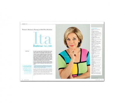 Honestly Woman magazine layout designed by brisbane graphic designer Megan Taylor