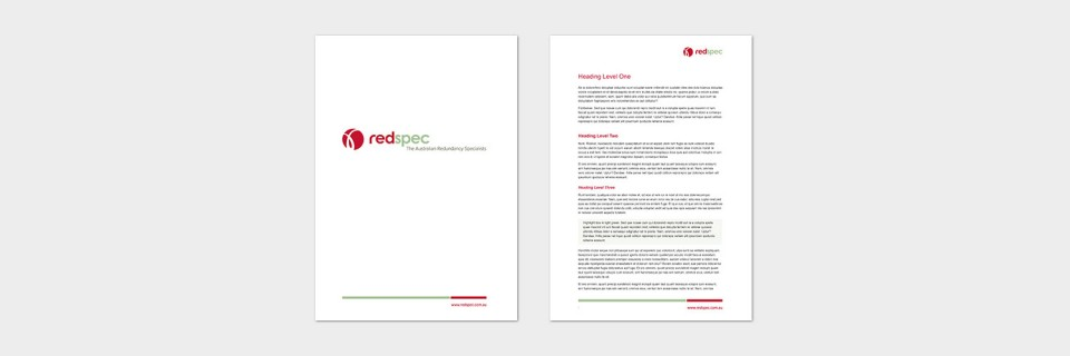 Red spec document template design